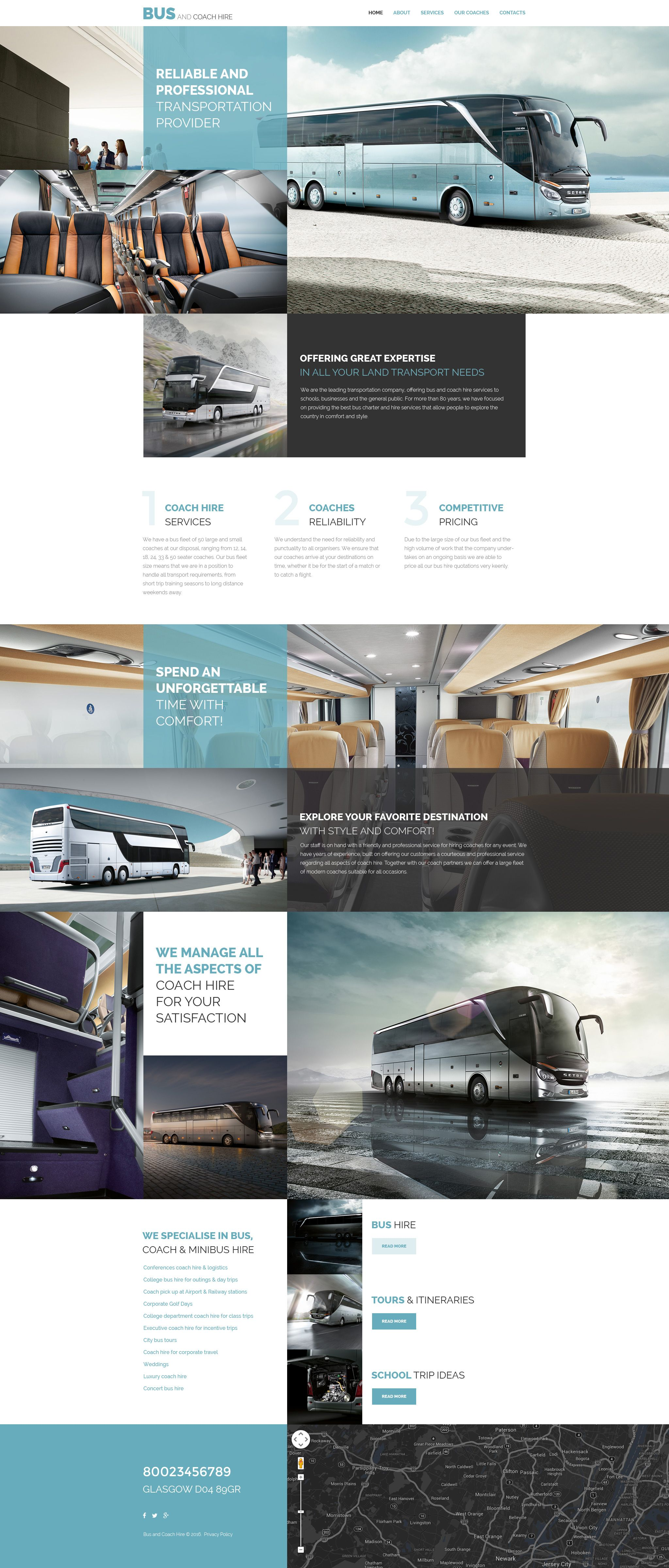 bus and coach hire website template cols et id e. Black Bedroom Furniture Sets. Home Design Ideas