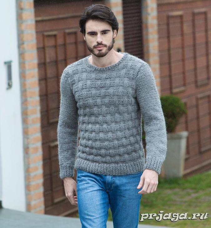 схема свитера мужского вязаный спицами