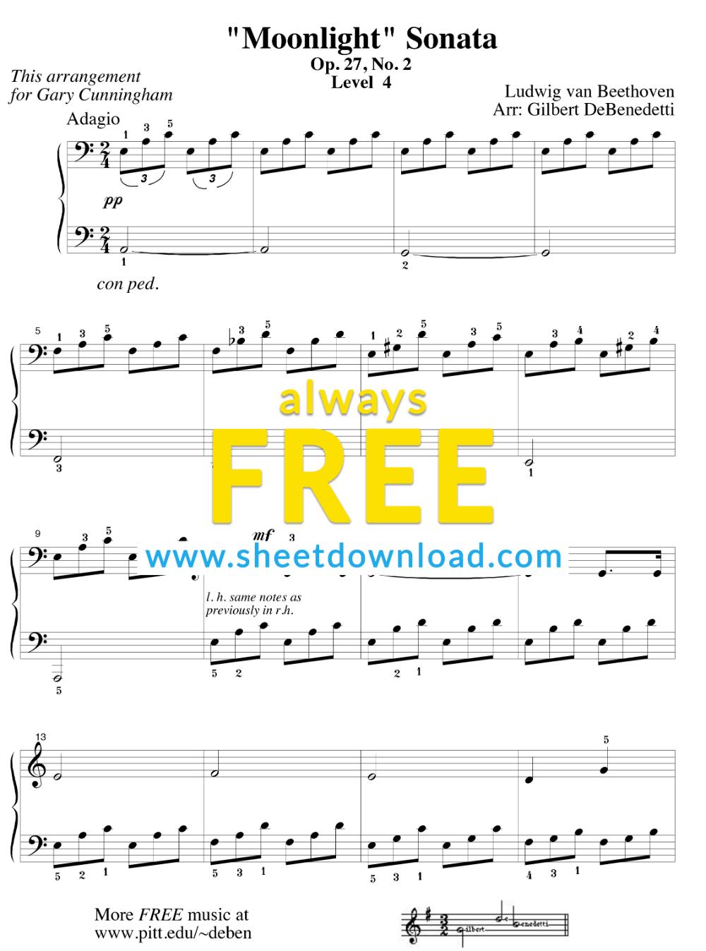 My Immortal - Evanescence Free Piano Sheet Music PDF