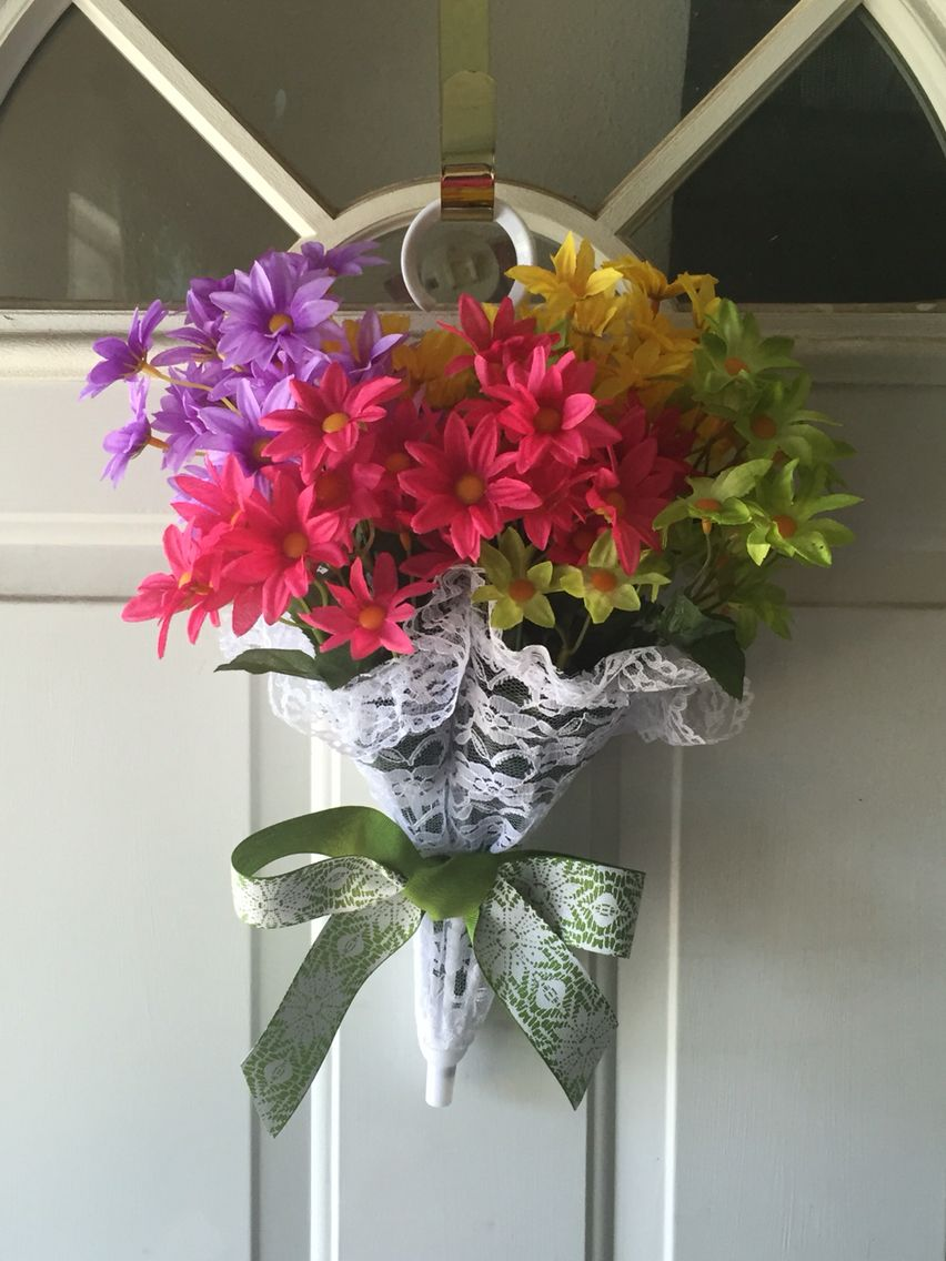 Spring Umbrella Wreath