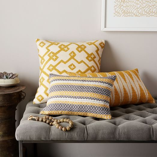 Deco Pillow Cover Trio - Horseradish | West Elm