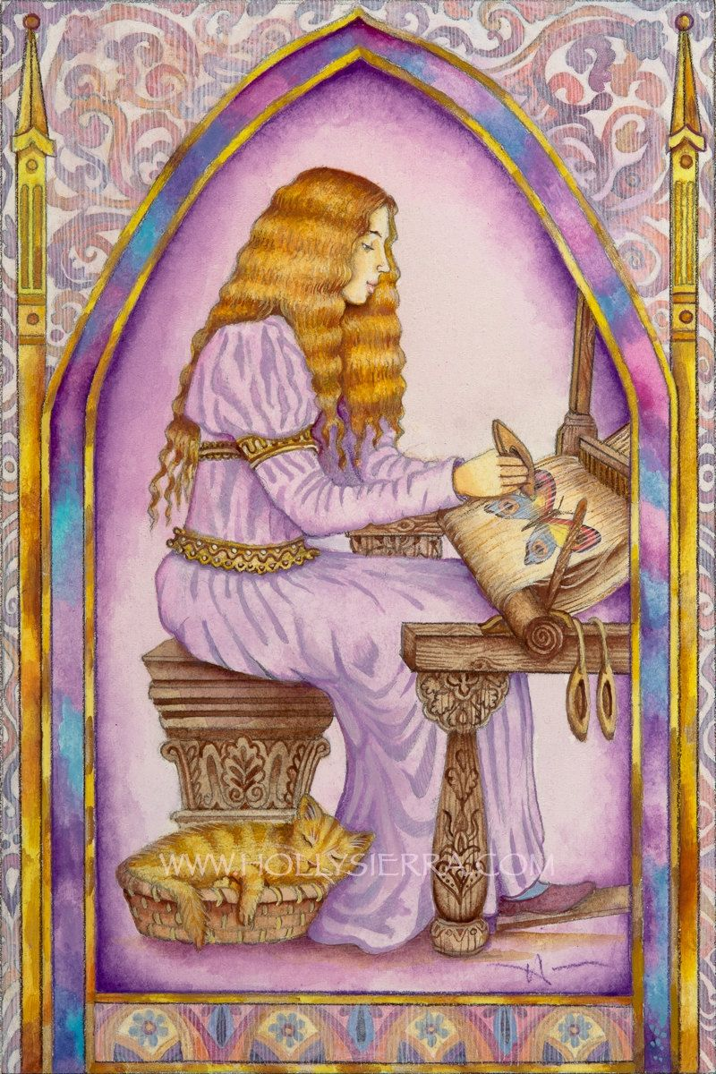 The weaver a fine art greeting card from the chrysalis tarot the weaver a fine art greeting card from the chrysalis tarot troupe of medieval characters m4hsunfo