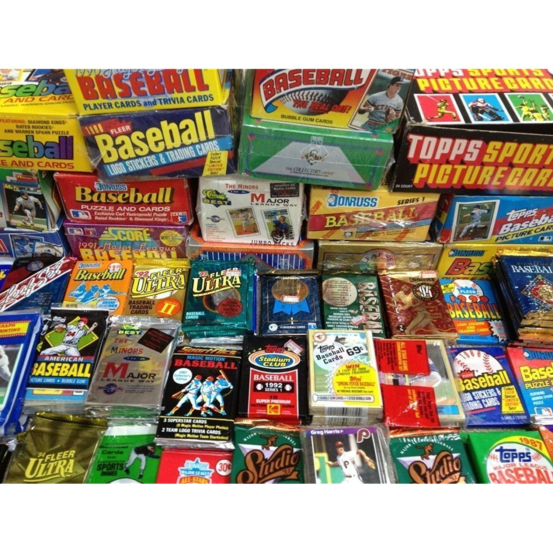 100 Vintage Baseball Cards In Unopened Packs FREE Hall Of Famer Cards Each Lot