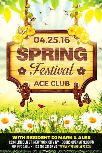 Spring Festival Flyer Template -    ffflyer spring - spring flyer template