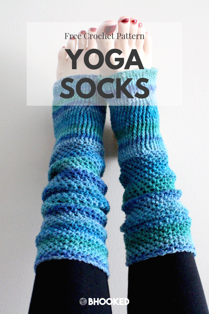 Crochet Yoga Socks – Free Pattern & Tutorial – B.hooked Crochet