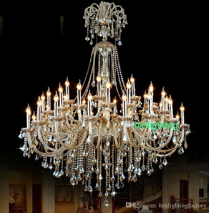 extra large crystal chandelier lighting Entryway high ...