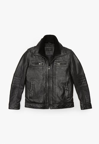 Danier Official Store, Carter lamb leather moto , black, Men, 204030627