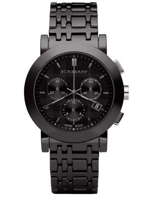 all black burberry watch