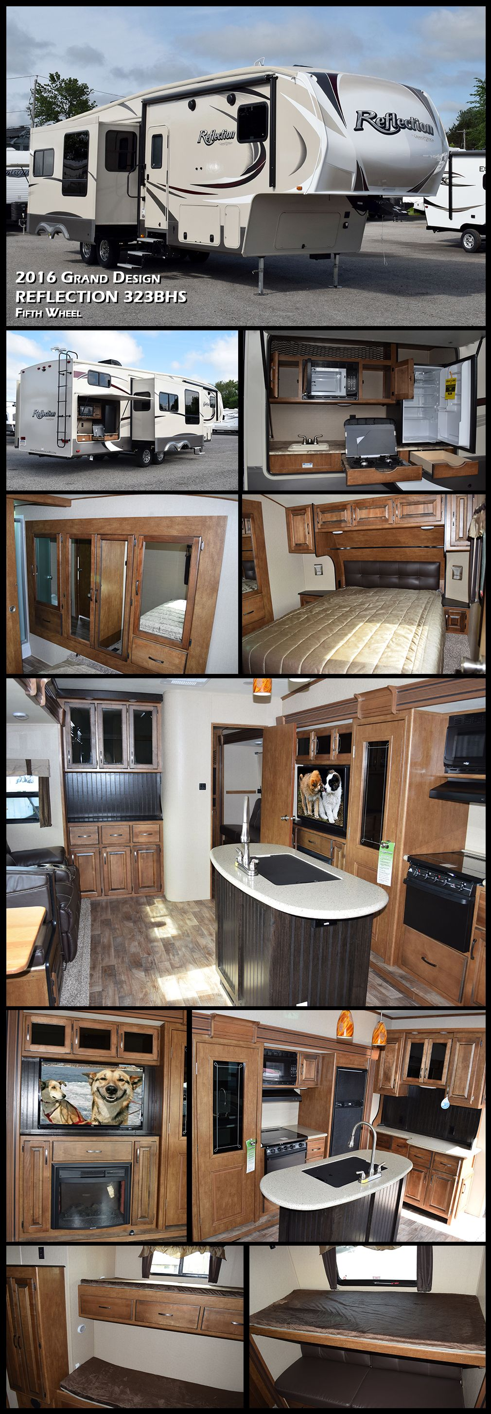 this 2016 reflection fifth wheel model 323bhs by grand design rv