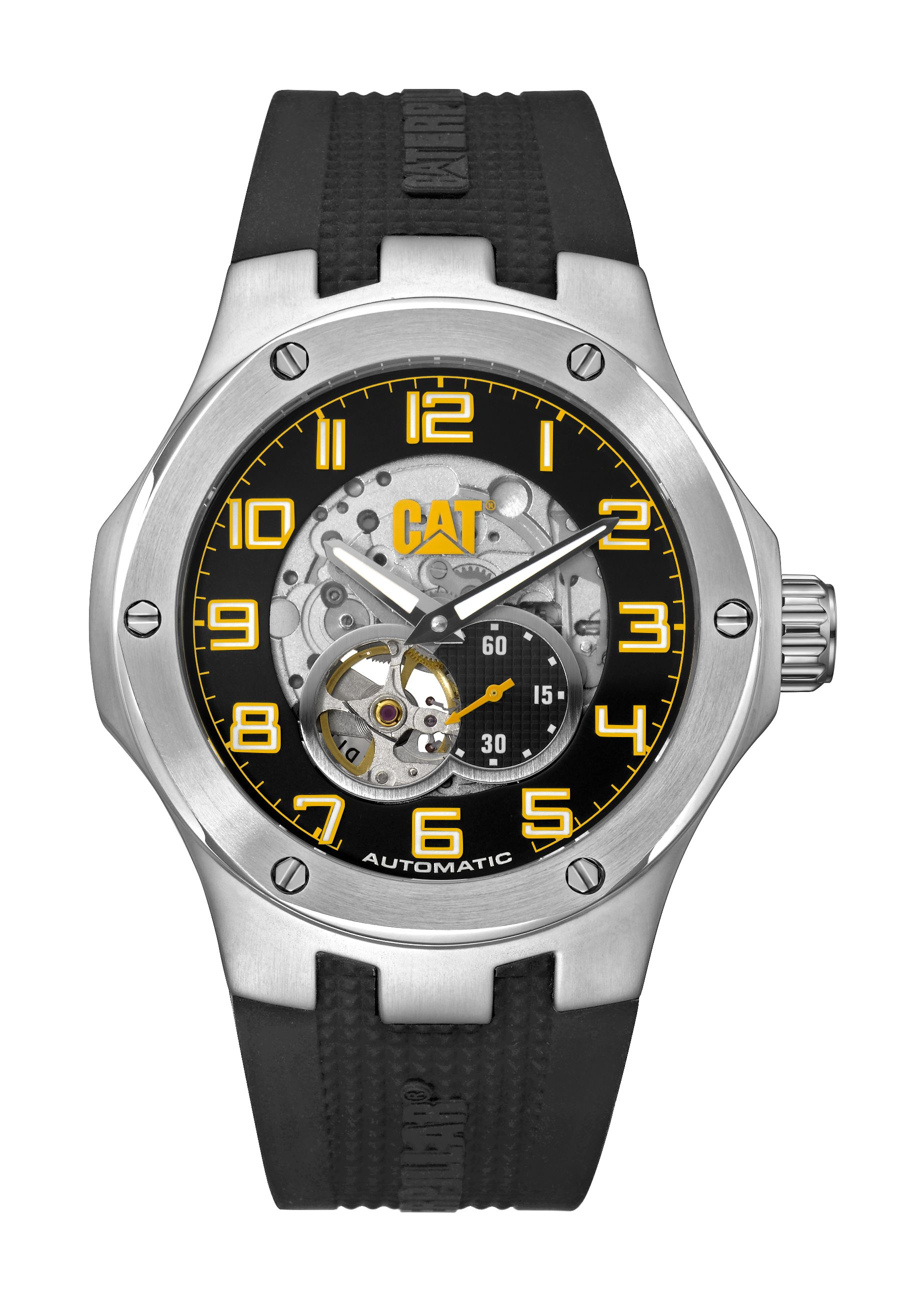 71d1a5010 Cat watches automatic navigo mens watch with silicone strap and stainless  steel case / A8.148.21.111