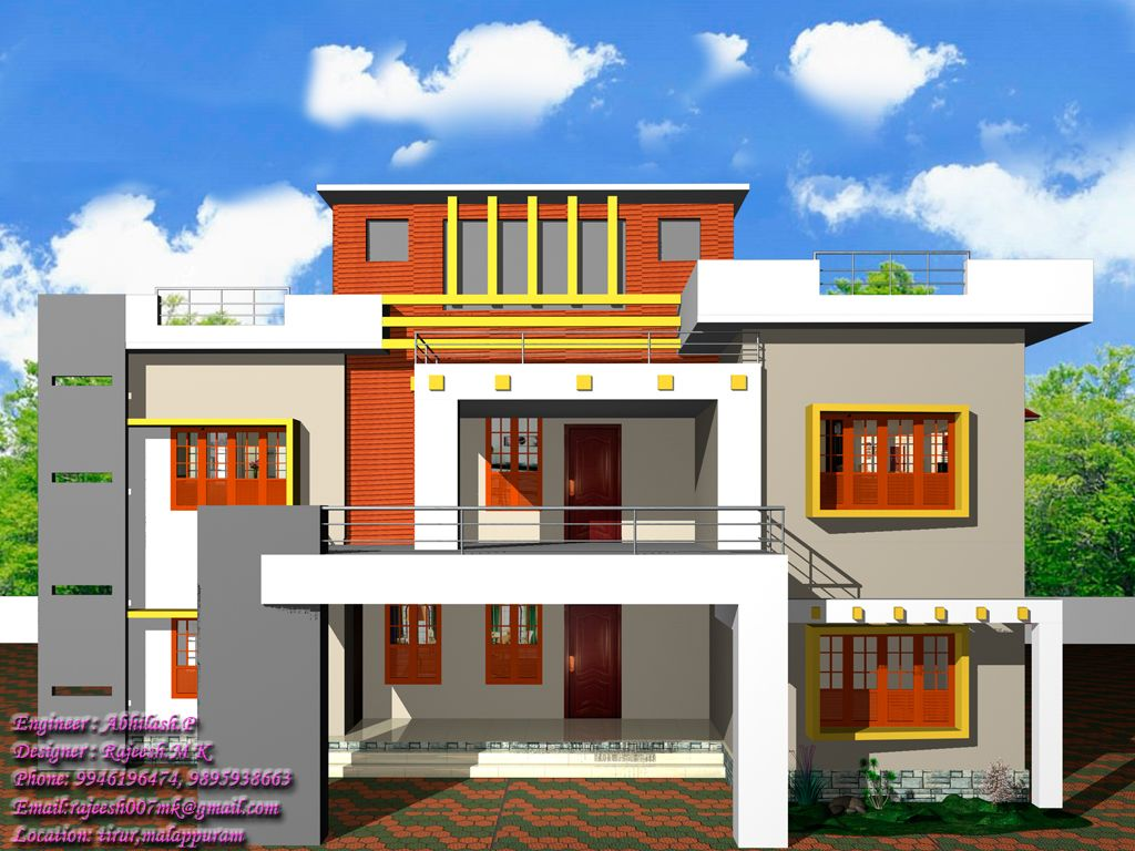 Modern House Design Kerala Modern House - Home design engineer
