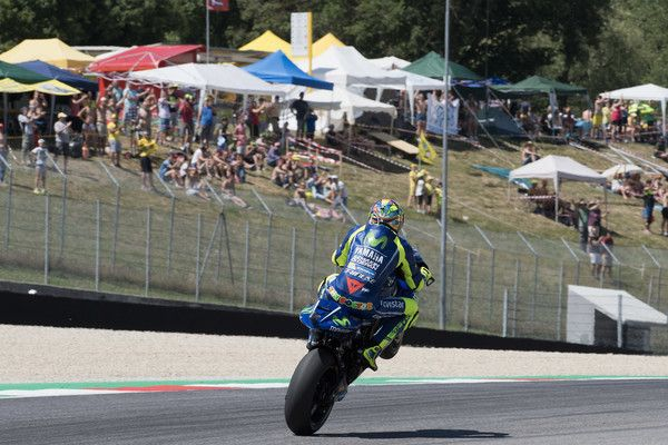 eacdb3427b Valentino Rossi Photos Photos - Valentino Rossi of Italy and Movistar  Yamaha MotoGP lifts the front wheel. during the MotoGp of Italy - Free  Practice at ...
