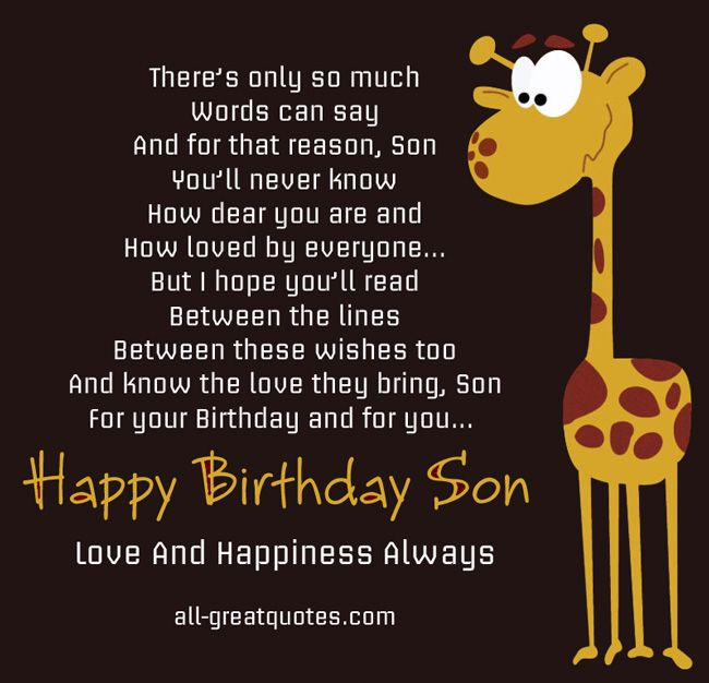Happy Birthday To A Son Who couldnt be loved more For the – Happy Birthday Cards for Son