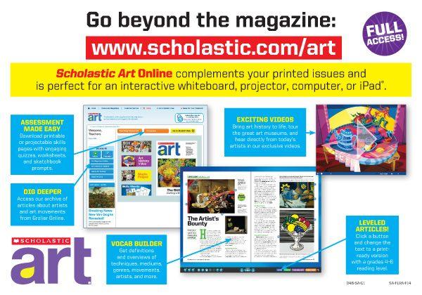 #ScholasticArt online offers you even more #interactive classroom tools!