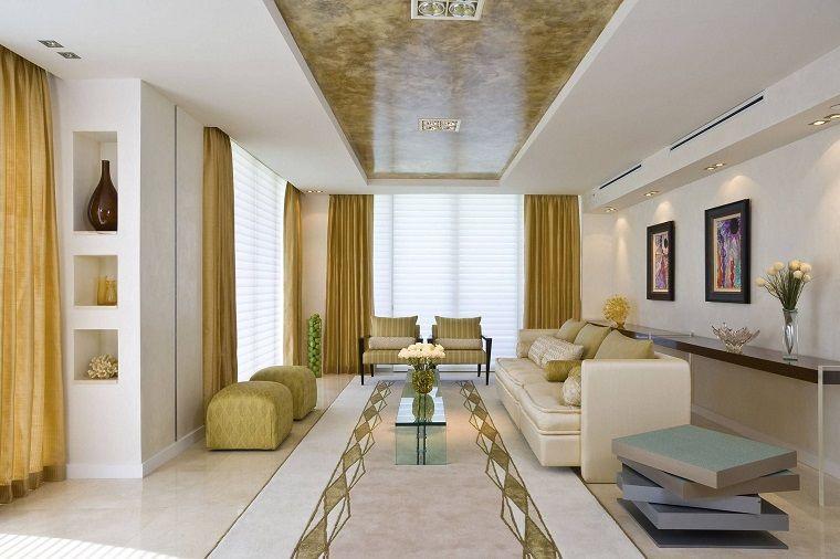 tende-per-soggiorno-color-beige-oro | Idee e ispirazioni per ...