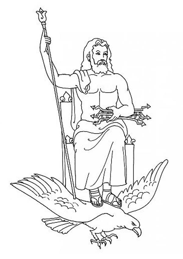 Zeus From Greek Gods And Goddesses Coloring Page Netart Greek Gods And Goddesses Coloring Pages Greek Mythology Art