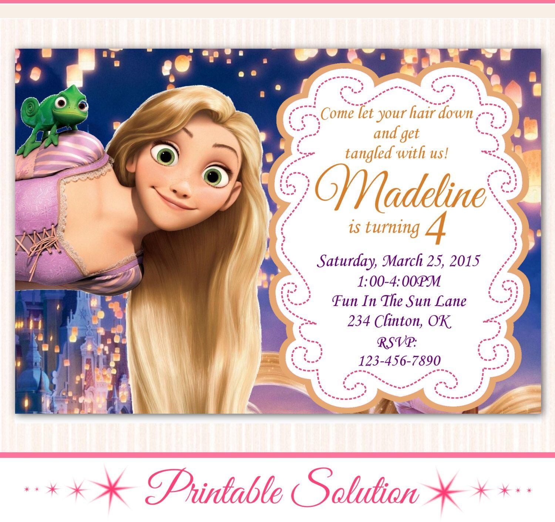 Tangled Invitation Tangled Birthday Tangled Party Disney