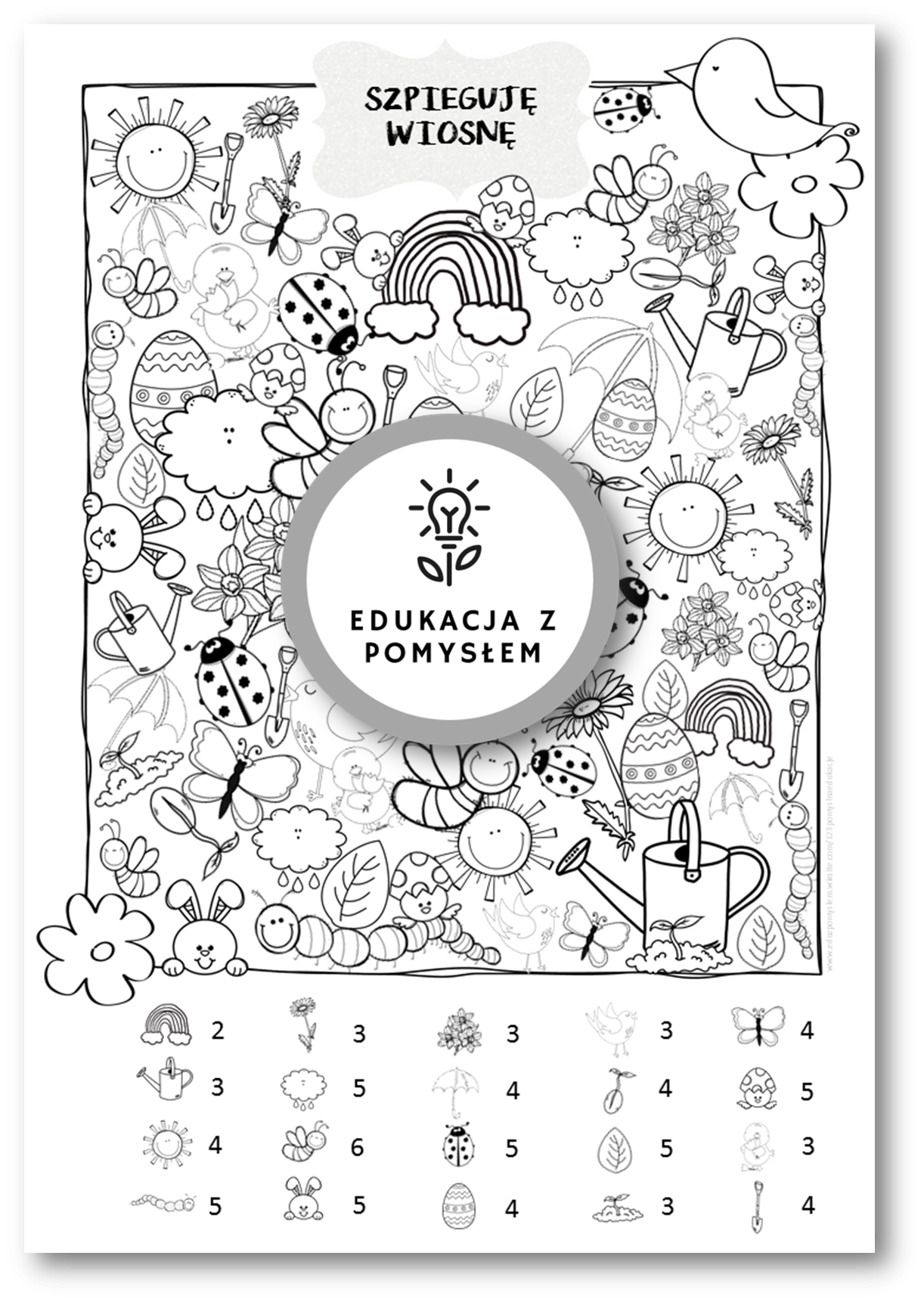 Szpieguj Wiosne Gra Dla Dzieci In 2020 Symbols Letters