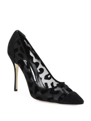 0a307dabbdce MANOLO BLAHNIK Bb Mesh Point-Toe Pumps. #manoloblahnik #shoes #pumps ...