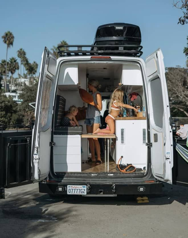 Photo of This Family of 4 Lives Full-Time in a 86-Square-Foot Converted Sprinter Van
