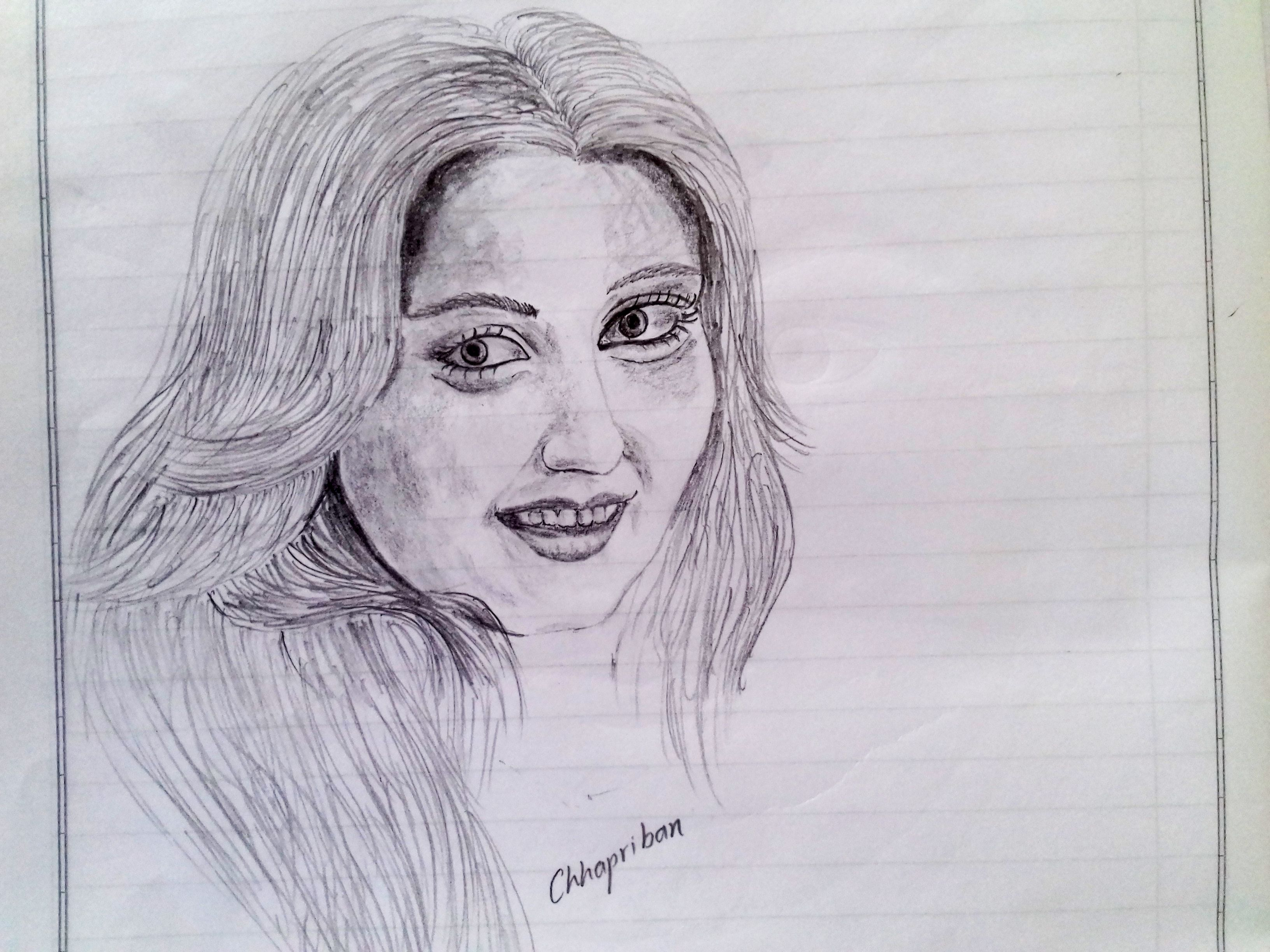 Cute indian girl indian girls pencil sketches drawings sketch sketching