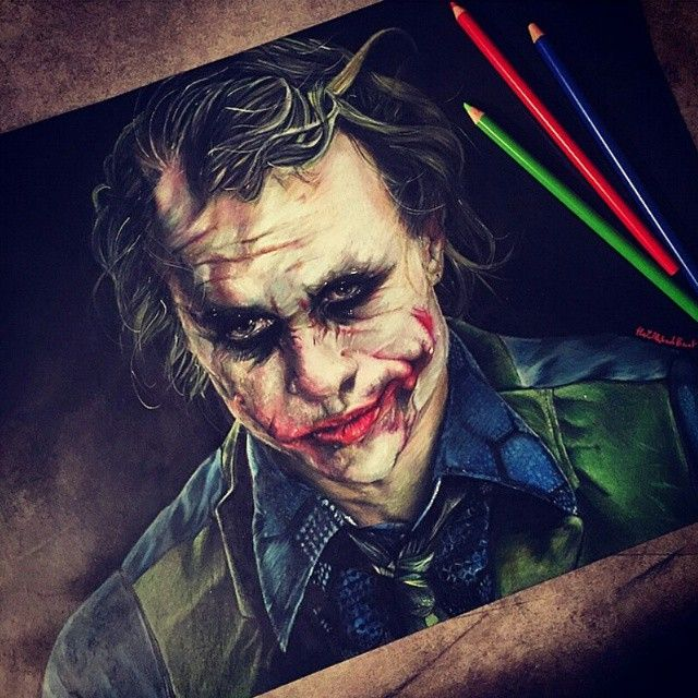 The Joker Colored Pencil Drawing By Thelittlefrenchberet