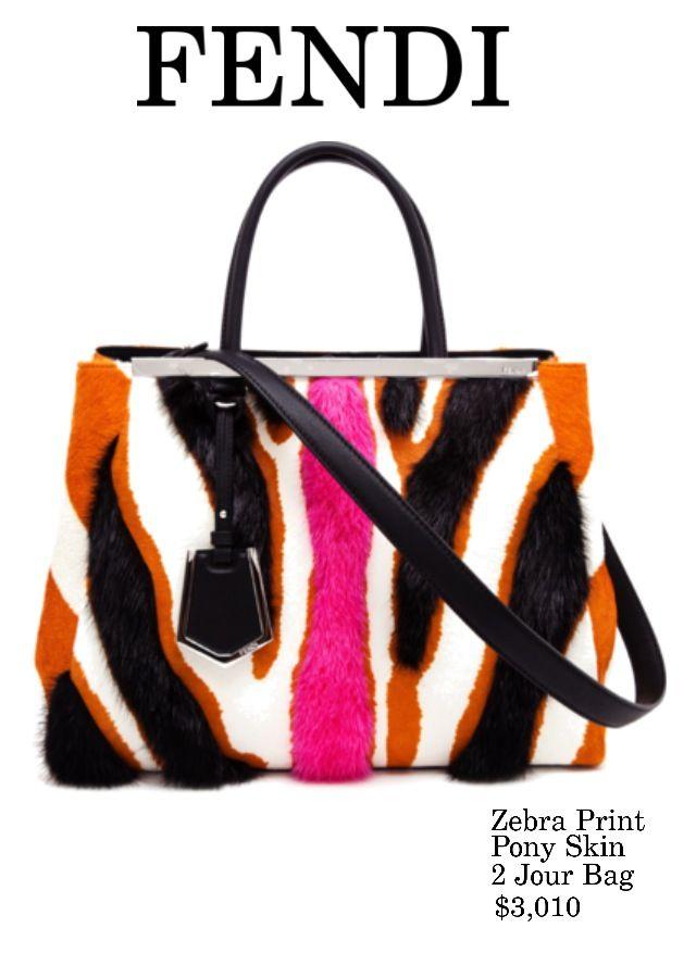 5671a052c92b FENDI Zebra Print Piny Skin Bag  luxe  accessory