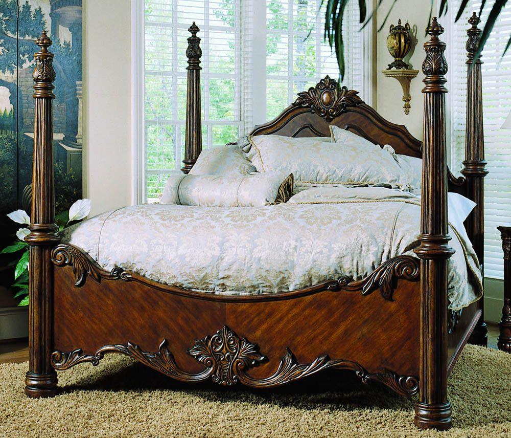 Edwardian California King Size Poster Bed by Pulaski