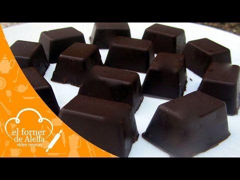 Bombones de chocolate rellenos de mermelada. Receta fácil - YouTube