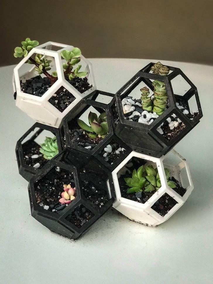 Plantygon 3D Printed Modular Planter 3d printed