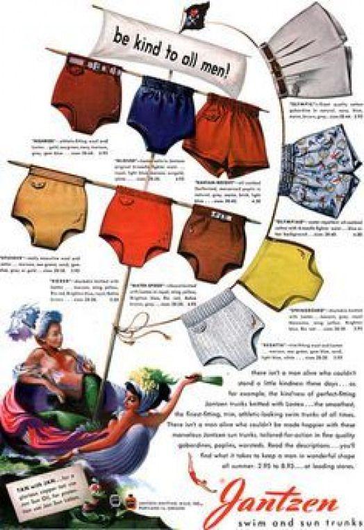 1940s mens bathing suits swimming suits shorts #men'sunderwear #men's #underwear #poster #mensbathingsuits