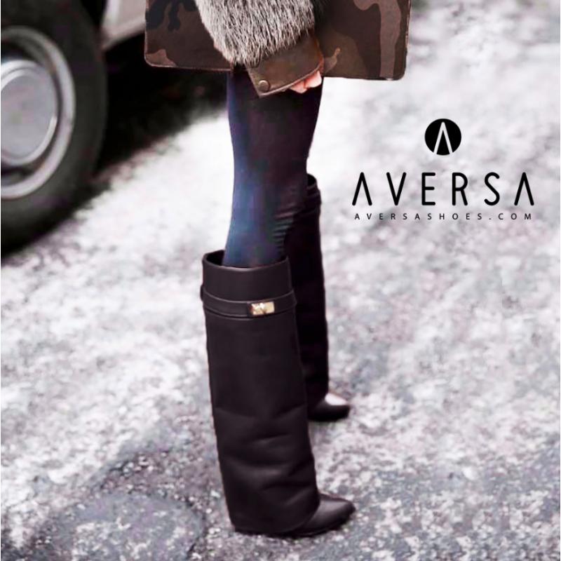 stili diversi in vendita all'ingrosso abile design Kammi Stivale con zeppa nero | Outfit Chic - Class will out ...