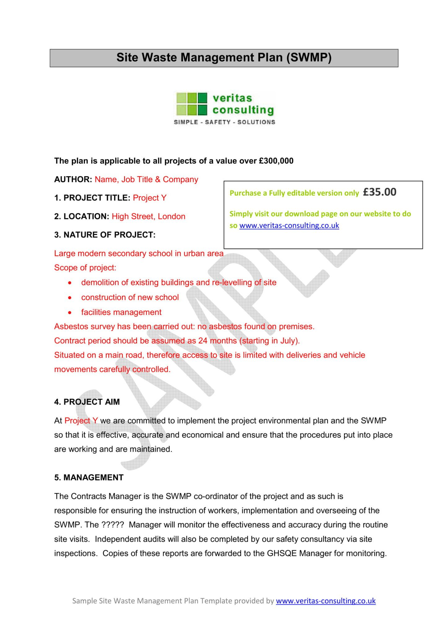 14+ Waste Management Plan Examples Pdf Examples for