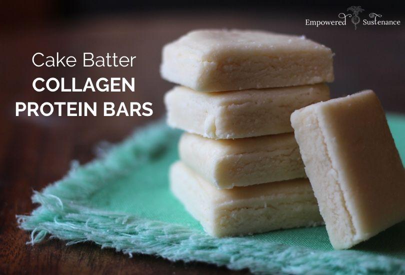 Cake Batter Collagen Protein Bar Recipe Healthier