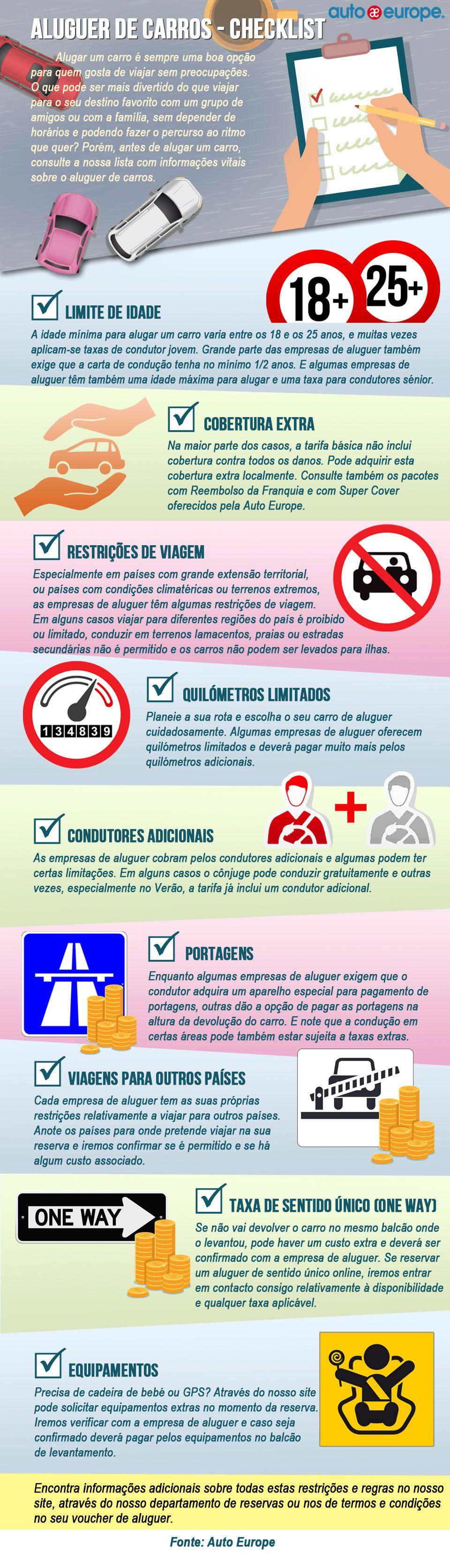 Infografico Aluguer De Carros Checklist Saiba Mais Sobre Os