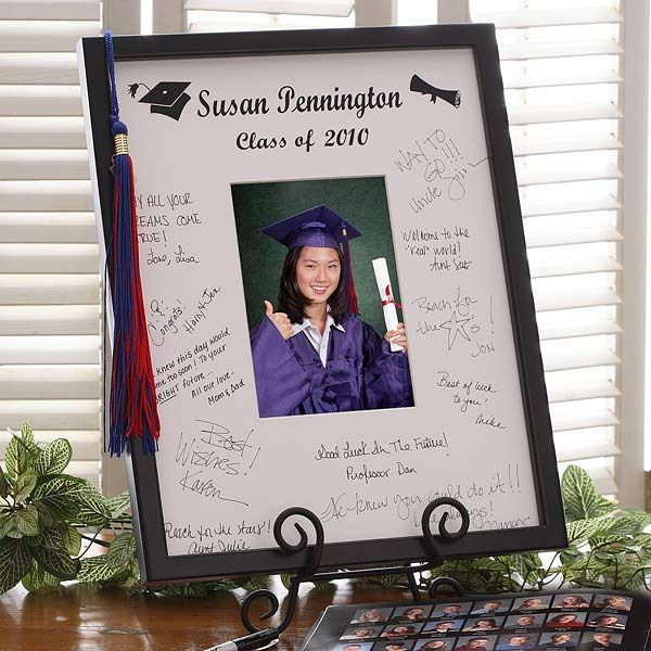 graduation invitation framed for keepsake ideas signature mat frame graduation picture frames with tassel