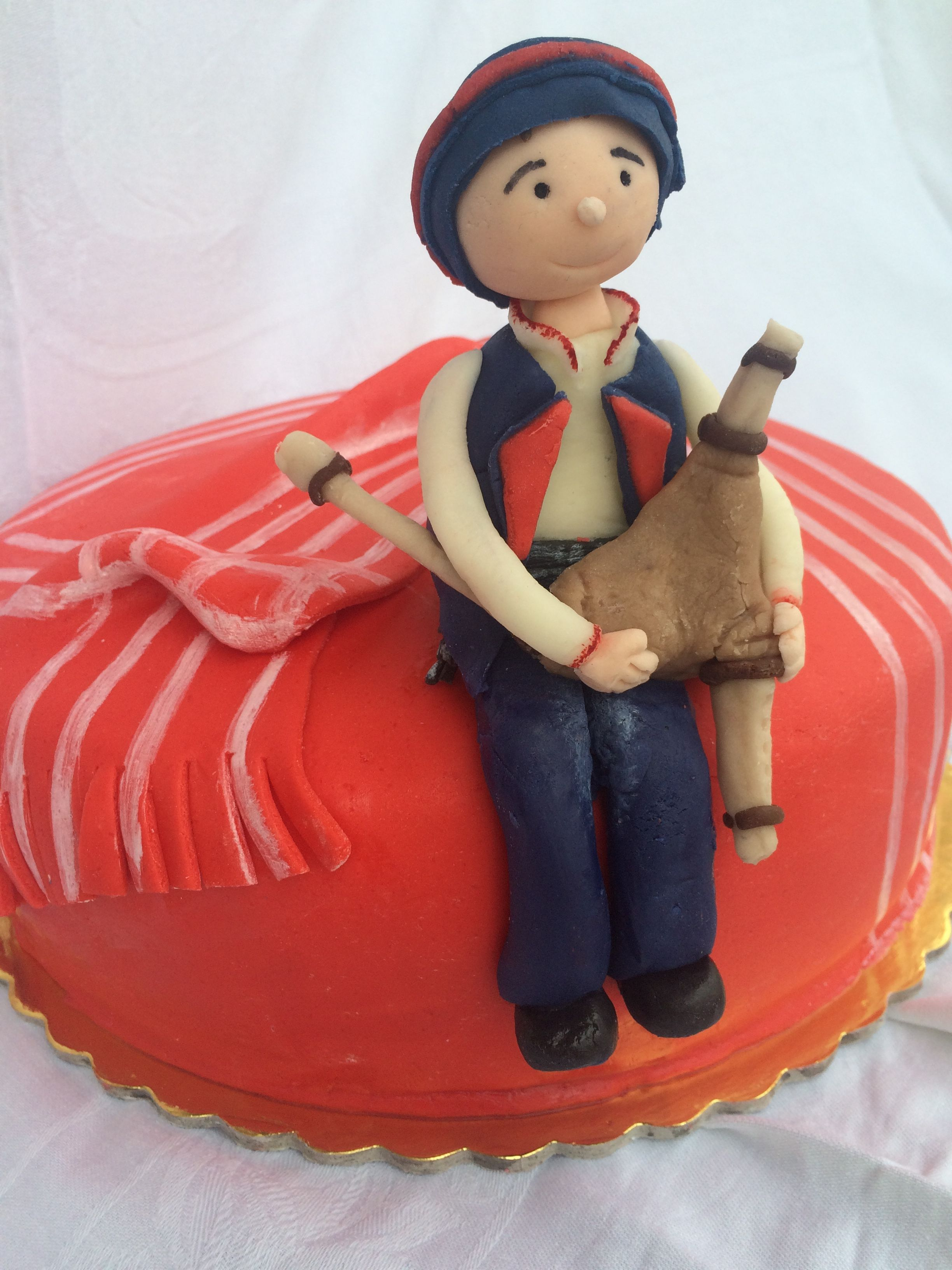 Traditional Greek bagpipe birthday cake