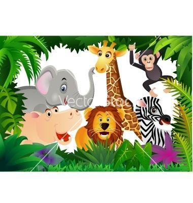 Safari Animal Cartoon Vector Art Download Vectors 581116 Cartoon Animals Safari Animals Animal Icon