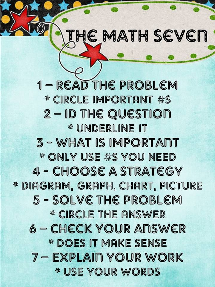 The Math Seven--with explanations | Bulletin board ideas | Pinterest ...