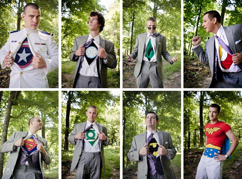 Groomsmen Superhero Wedding