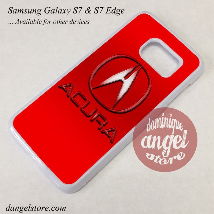 Red Acura Logo Phone Case for Samsung Galaxy S7 and Galaxy S7 Edge