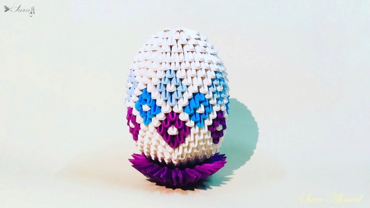 How to make 3d origami easter egg 6 3d origami fun ideas and how to make 3d origami easter egg 6 jeuxipadfo Image collections