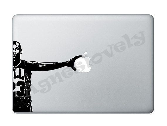 Mac decalmichael jordan macbook decal macbook air by agneslovely 7 50