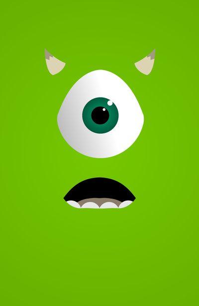 Resultado De Imagen Para Mike Wazowski Wallpaper Iphone Monster Birthday Parties Iphone Wallpaper Wallpaper