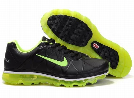 d46b654be6 Nike Air Max 2011 Leather Mens Black Green | Shoes | Pinterest ...