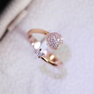 2015 Vergulde vinger Boog ring verloving Zirkoon Ringen vrouwen sieraden groothandel XY-R19
