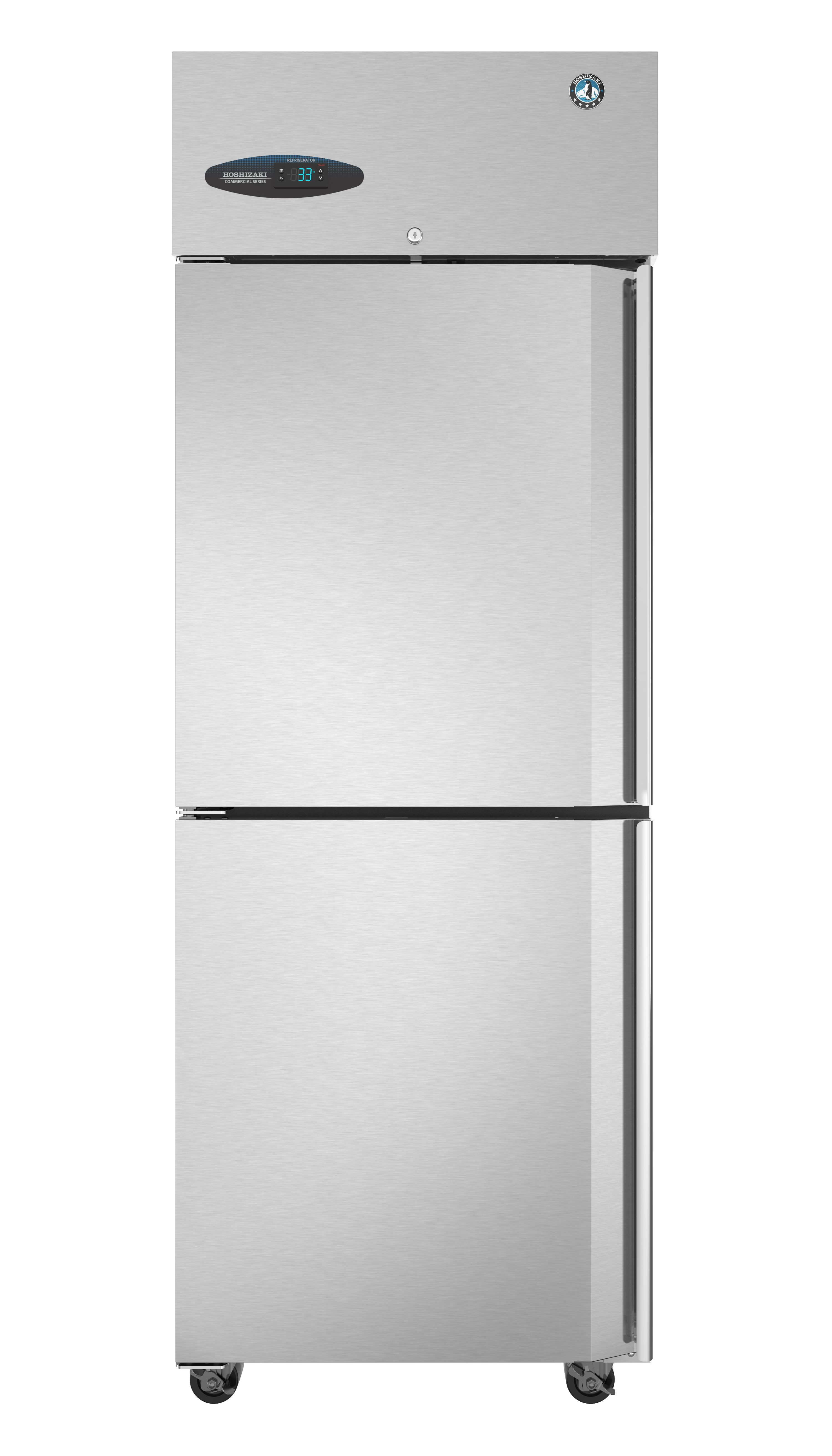 Cf1s Hsl Freezer Single Section Upright Half Stainless Doors With Lock Commercial Refrigerators Commercial Freezer Wire Shelving