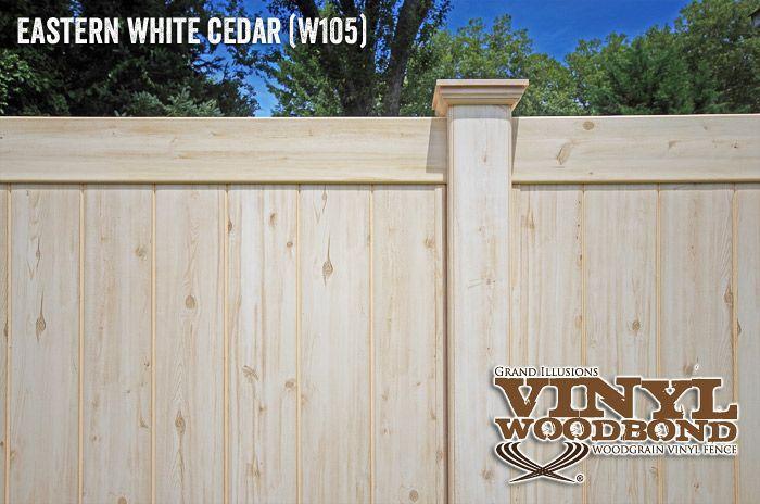 White Cedar Wood Grain Finish Eastern
