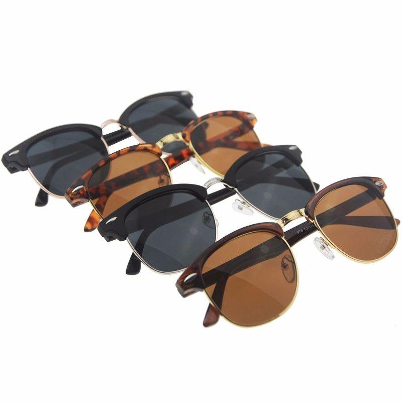 0d2583b1d169 Half Metal Sunglasses Men Women 2018 Brand Designer Eyeglasses Mirror SunGlass  Fashion Gafas De Sol Leopard Driving Sun glasses Price  9.95   FREE  Shipping ...