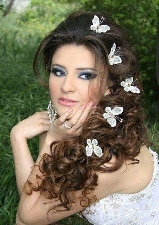 Cute butterflies   Hair styles, Wedding hairstyles for long hair, Wedding hairstyles